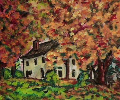Autumn Farmhouse var 2 by Laura Heggestad