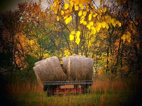 Autumn Hay Wagon by Joyce Kimble Smith