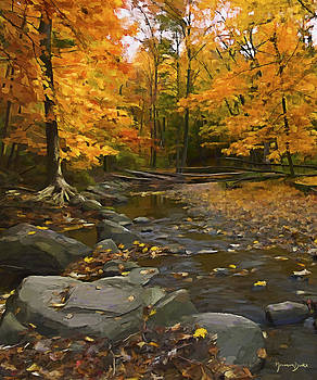 Autumn in the Park by Norman Drake