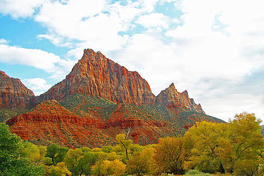 Autumn in Zion Canyon NP by Sharon I Williams