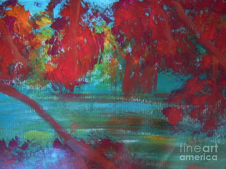 Autumn Lakeside by Lam Lam