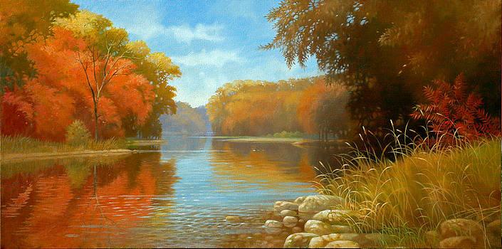 Autumn On The Kishwaukee by Tom Heflin