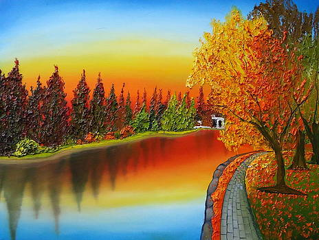 Autumn Over Drake Park 1 by Portland Art Creations