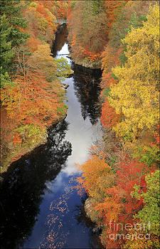 Autumn River Garry Scotland by George Hodlin