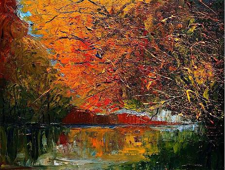 Autumn...-River by Justyna Kopania