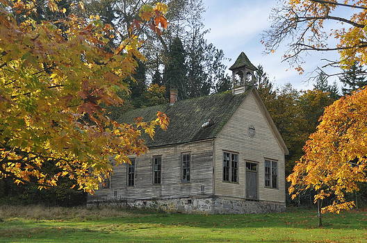 Autumn Schoolhouse by Brent Easley