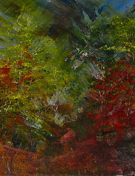 Autumn Sunshine Abstract by Sherry Robinson