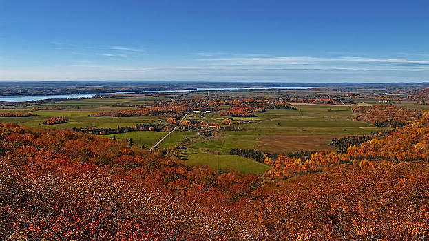 Chantal PhotoPix - Autumn Vista - Rural Farm Fields and Meadows Aerial View of the Ottawa Valley - Peak Fall Colors
