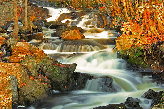 Autumn Waterfall by Cathy Leite Photography