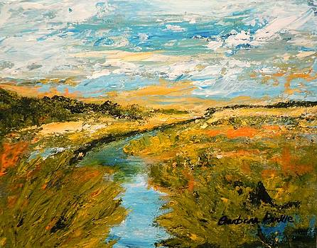 Autumn's Golden Marshlands by Barbara Pirkle