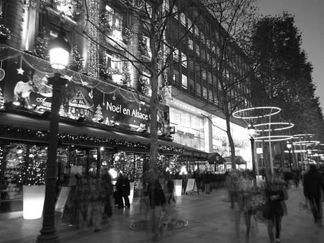 Avenue des Champs-Elysees at night by Len Yurovsky