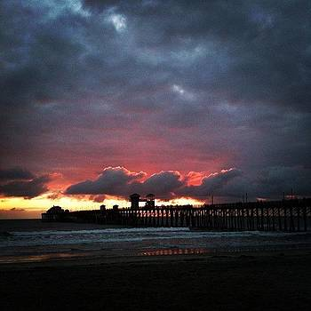 Awesome Sunset. #sunset, #pier, #beach by Rita Spiegel