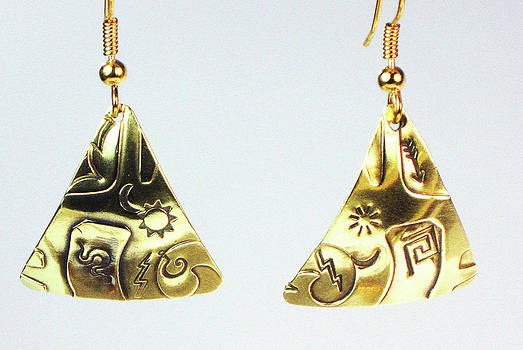 Aztec Trilogy Earrings by Vagabond Folk Art - Virginia Vivier