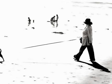 B and W Beach Scene 2 by Brian D Meredith