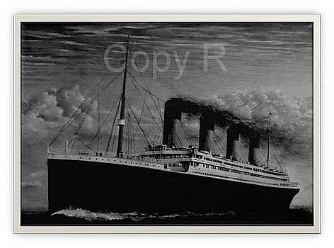 B W Titanic  Memorial Image by Marko Lulic