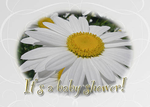 Mother Nature - Baby Shower Invitation - Ox Eye Daisy