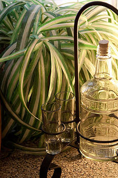 James Woody - Backlit Bottle and Glasses