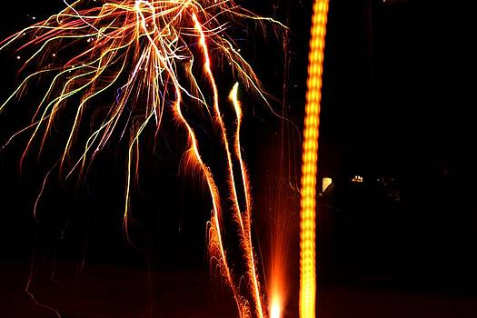 Backyard Fireworks 2012 1 by Robert Morin