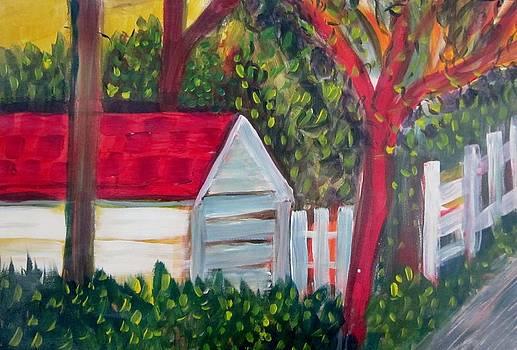 Backyard Scene by Bev Hart