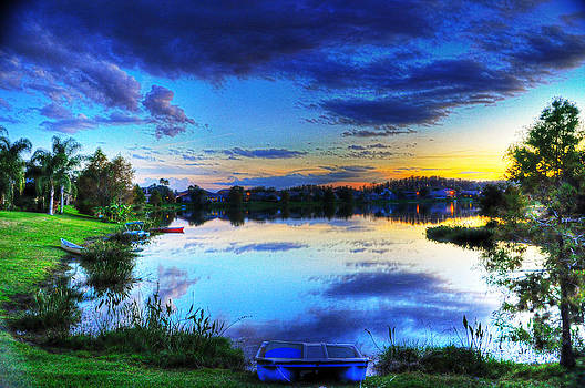 Backyard Sunset by Alex Owen