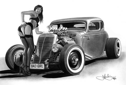 Bad Girl drawing by John Harding