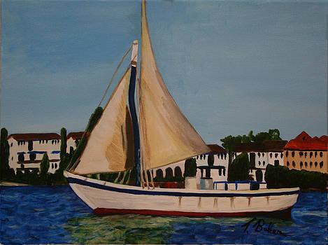 Bahamas Boat by Tony Baker
