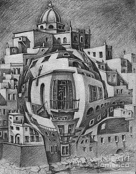 Balcony-Escher by Mada Lina