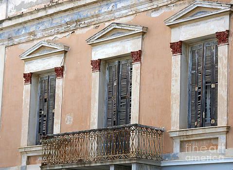 Balcony on Greek Island by Maria Varnalis