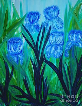 Ballerina Irises by Pm Ernst