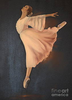 Ballerina on Point  by Gila Churba