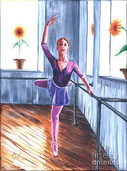 Ballerina with Sunflowers by Gail Finn