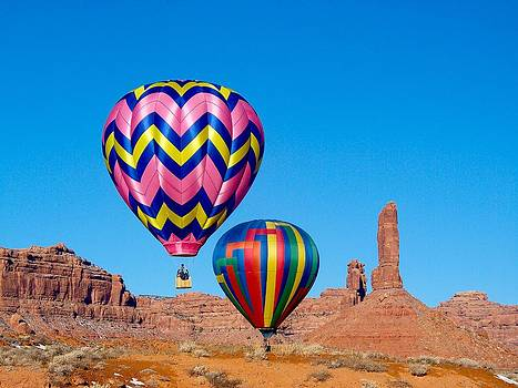 Ballooning in Valley of the Gods by FeVa  Fotos