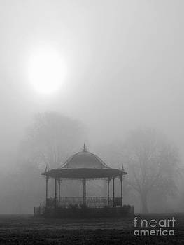 Bandstand in the Morning Mist by Karin Ubeleis-Jones