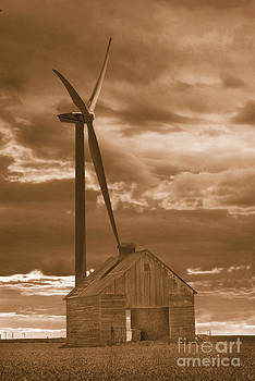 Barn and windmill 2 by Jim Wright