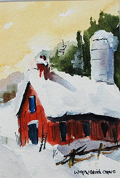 Barn in Snow by Wilfred McOstrich