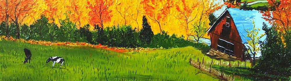 Barn Of Autumn by Portland Art Creations
