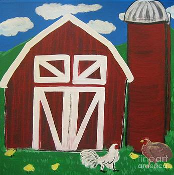 Barn on the Farm by Eva  Dunham
