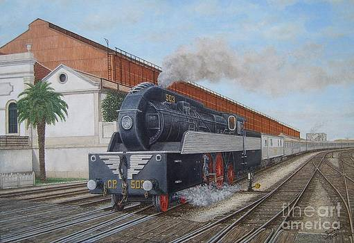 Barreiro Train Station - Estacao de Comboio do Barreiro by Carlos De Vasconcelos Tavares