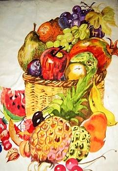 Basket of fruits by Essie Sarange