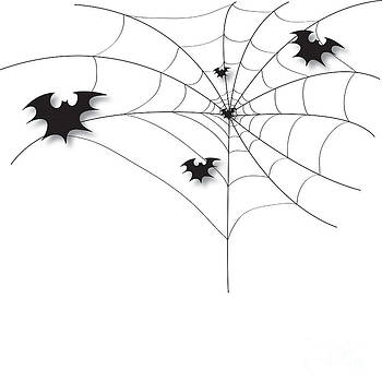 Bat on a spider web by Veeradech Triwatcharanon
