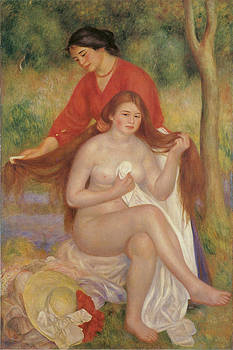 Pierre-Auguste Renoir - Bather and Maid