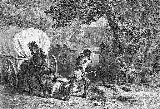 Photo Researchers - Battle Of Bloody Brook 1675