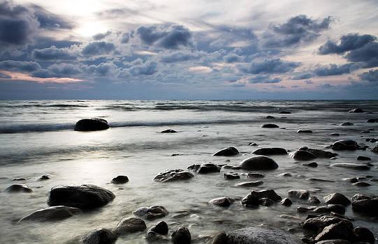 Beach at Dusk by Carol Hathaway