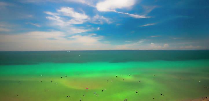 Beach Goers by Lou  Novick