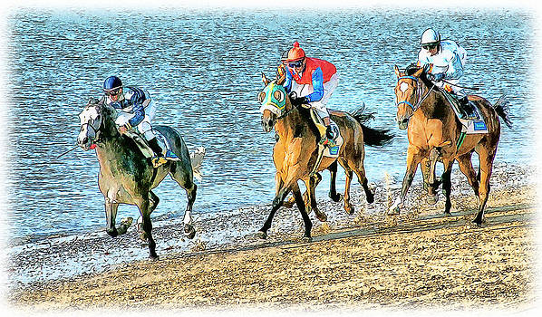 Beach Race by Tom Schmidt