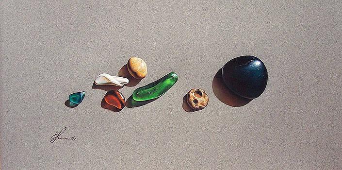 Beach stones by Elena Kolotusha