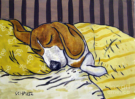 Beagle Sleeping by Jay  Schmetz