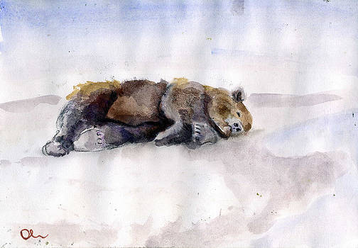 Bear Sleeping At the Sea by Lelia Sorokina