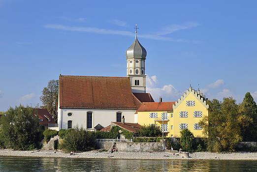 Beautiful church in Wasserburg Lake Constance by Matthias Hauser
