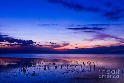 Beautiful Sea In Twilight by Mongkol Chakritthakool